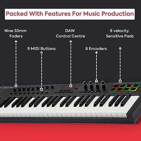 Nektar Impact LX49 + Teclado MIDI USB, Controlador con integración DAW