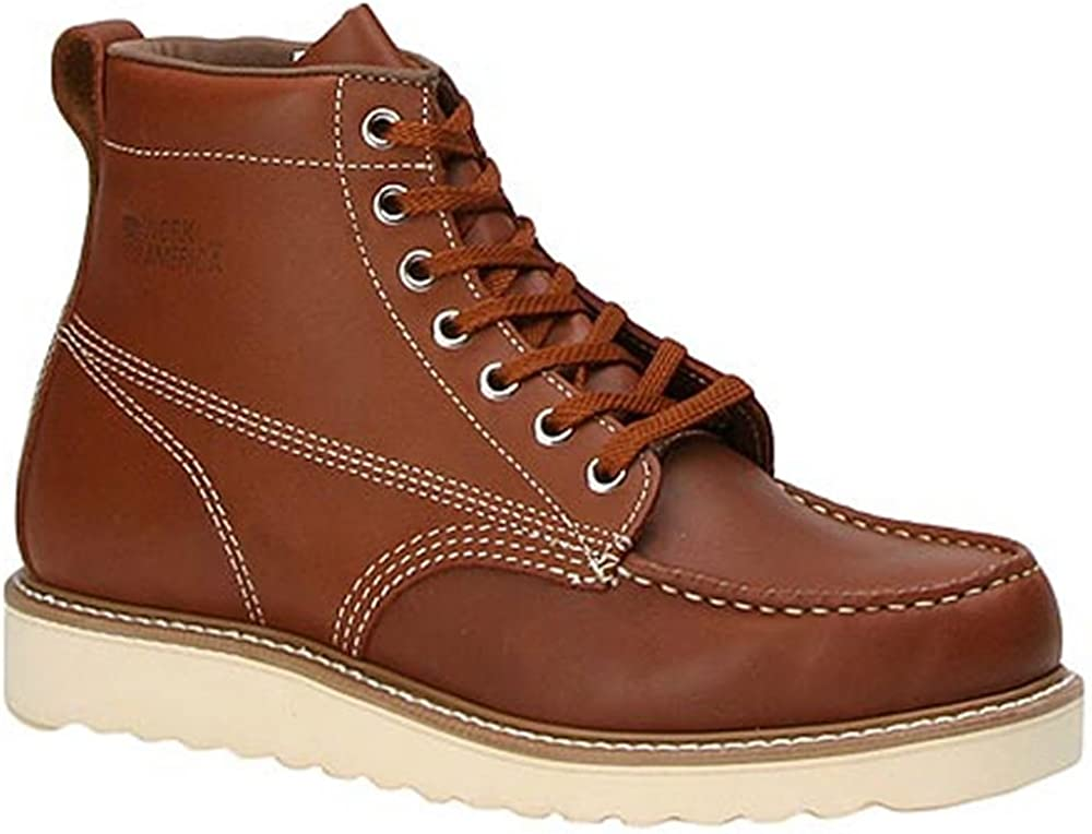 Mens Vintage Shoes, Boots | Retro Shoes & Boots Work America Mens Crepe Wedged Sole 6 Work $131.95 AT vintagedancer.com
