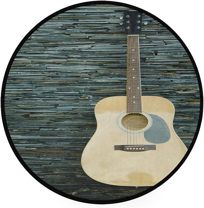 Mnsruu - Alfombra Redonda para Pared (92 cm), diseño de Guitarra ...
