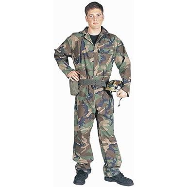 Amazon.com: Adult Men\'s Army Guy Halloween Costume (Size: Standard ...