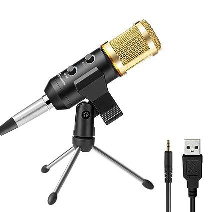 AMZtronics PC micrófono, Home Studio Vocal Grabación USB micrófono ...