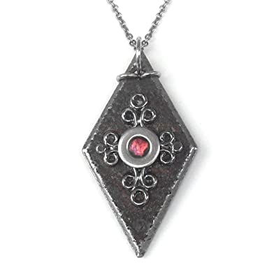 Amazon vampire diaries bonnie necklace black iron diamond amazon vampire diaries bonnie necklace black iron diamond shaped pendant 16 inches jewelry aloadofball Images