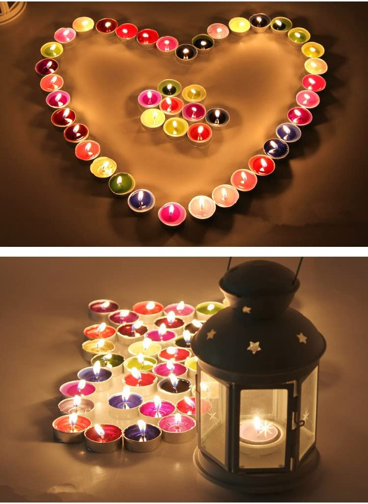 Amazon.com: 50 pcs velas, vela decorativa para boda ...