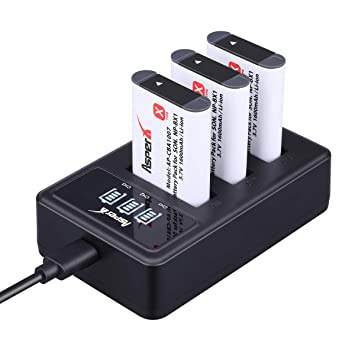 NP-BX1 Camera Battery-Asperx 3 Pack NP-BX1 Batteries and Charger Compatible with Sony DSC-RX100M III, DSC-RX1, DSC-RX100 V, DSC-HX300, HDR-CX240, ...