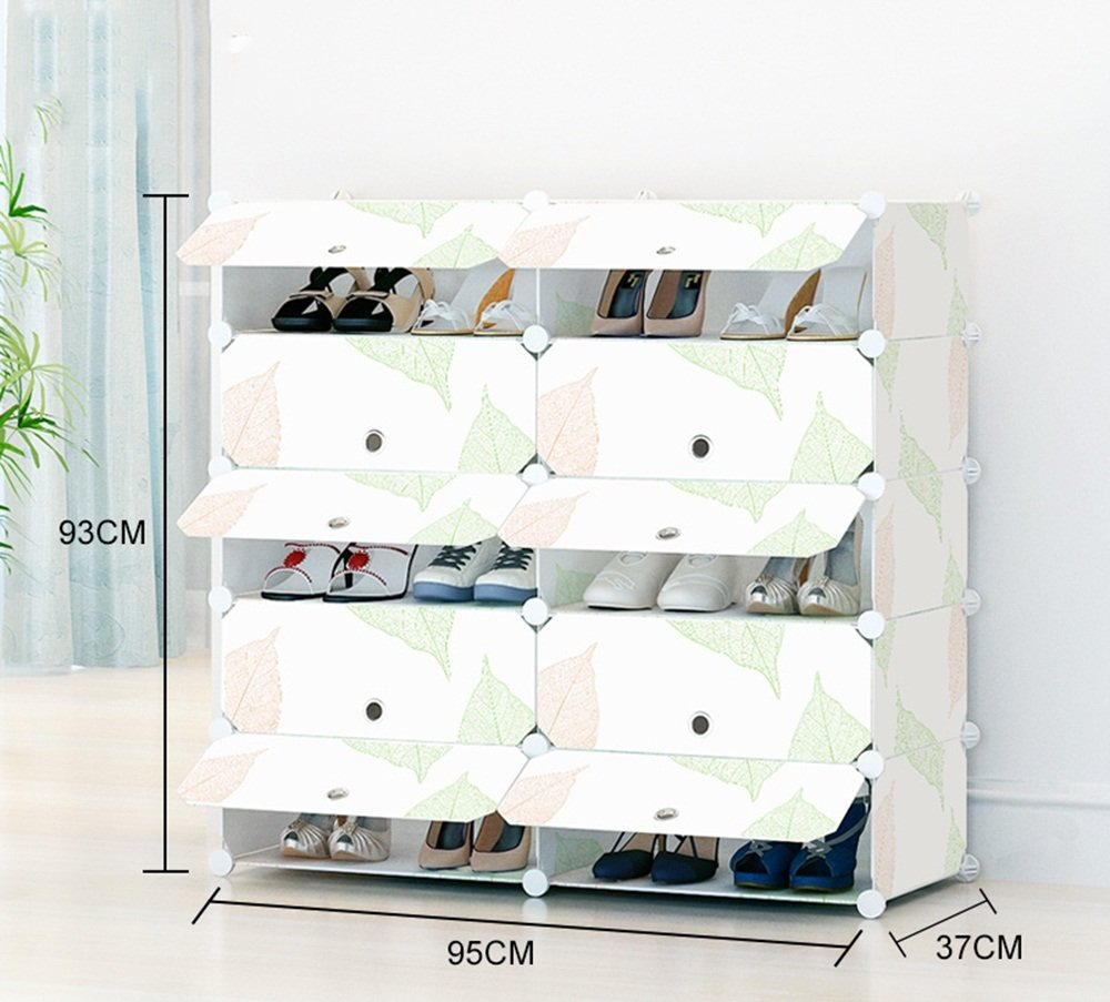 ALUS- Simple And Modern Multifunction Shoe Cabinet,Combination Of Large-capacity Multi-layer Resin Plastic Shoes Storage Rack,Dust-proof Small Shoe Rack ( Size : 953793cm )