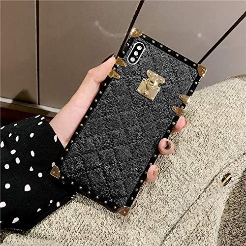 best authentic 12a4e 67f4c iPhone Xs Max Grid Plaid Case,SelliPhone Luxury Square Box Design Cute Slim  Diamond Lattice Soft TPU Trunk Case,Unique Women Girls Lady Phone Skin for  ...