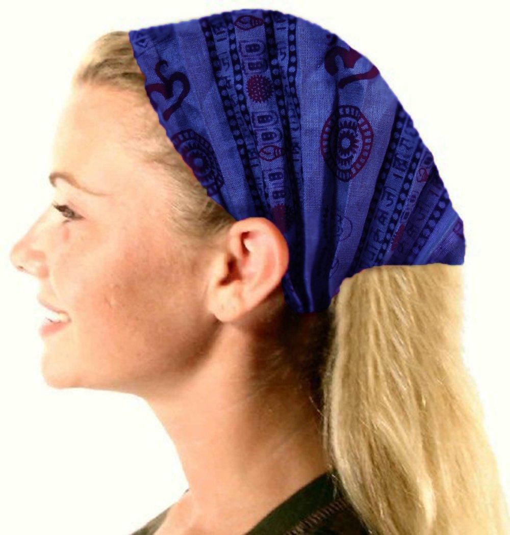 Amazon Cotton Stretch Elastic Bohemian Hippie Gypsy Bandana