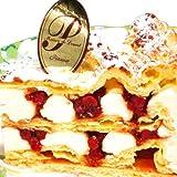 最高級洋菓子 ドイツの銘菓 フロッケンザーネトルテ ショートケーキ 15cm プレートセット