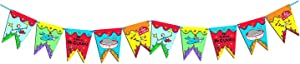Eureka Back to School ] 'If I Ran The Circus' Pennant Banner Classroom Decoration, Measures 10 ft long, 10 pc