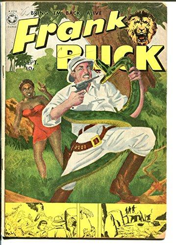 Frank Buck #3 1950-Fox-final issue-Bring 'Em Back Alive-snake attack-native-VG ()