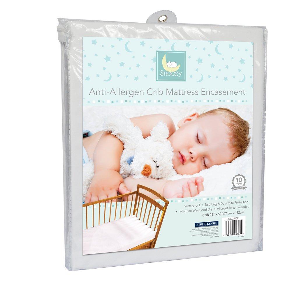 Snoozy Premium Anti- Allergen Crib Encasement For Full Mattress Protection Fiberlinks Textiles Inc