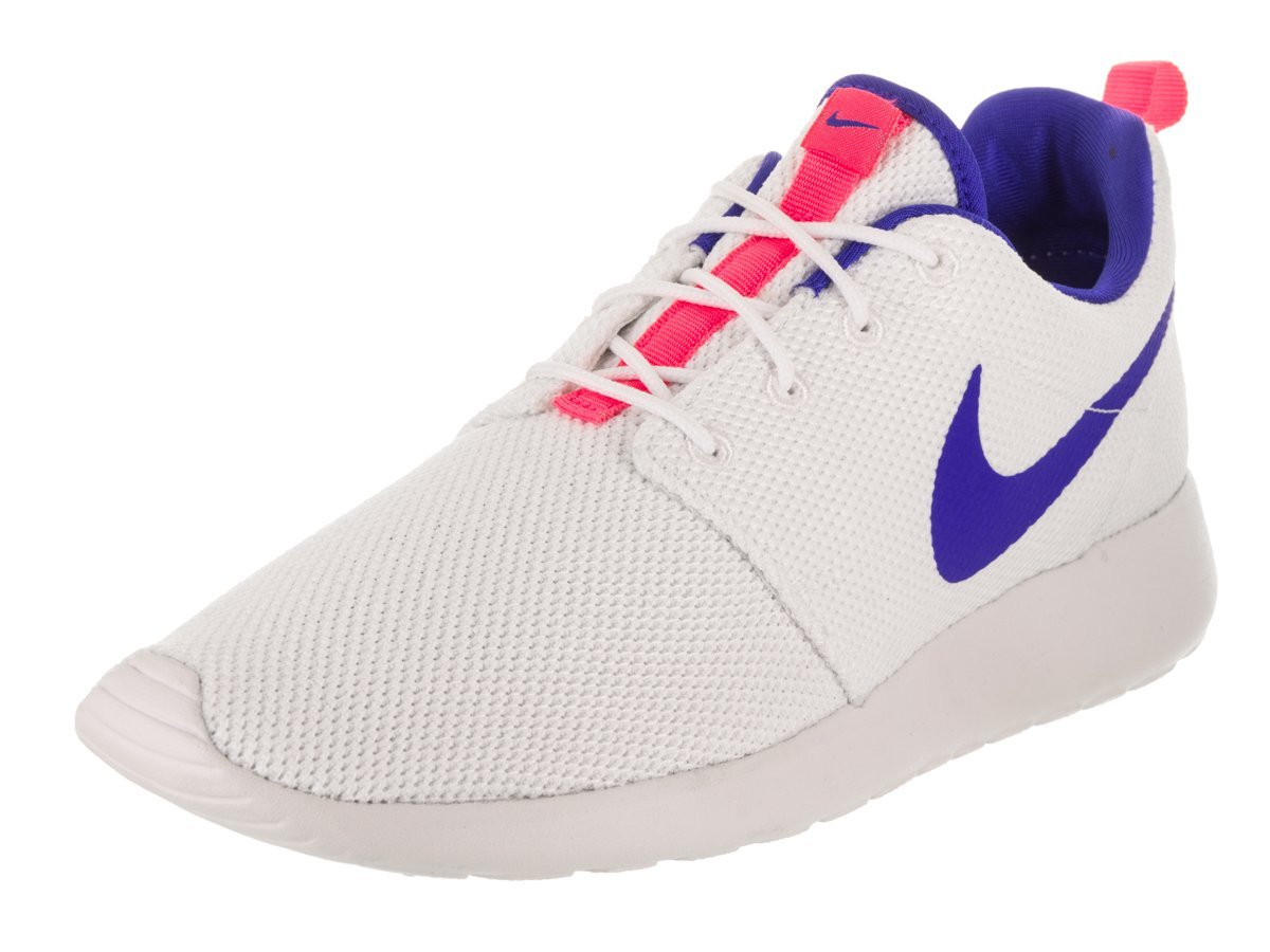 NIKE Men's Roshe One Running Shoe B07B7H6527 10.5 D(M) US|White / Ultra Marine-solar Red