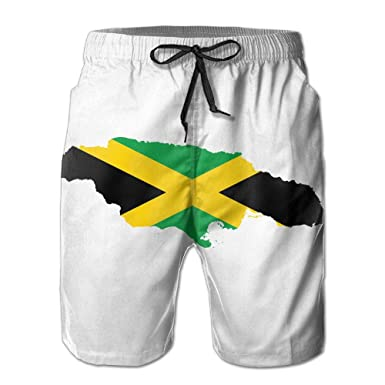 c3866e706f Amazon.com: Men's Board Shorts Flag Map of Jamaica Swimming Trunks Sport  Pants: Clothing