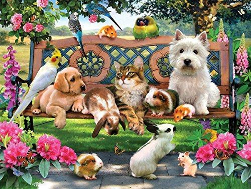 SunsOut Pets in The Park 500 Piece Jigsaw Puzzle