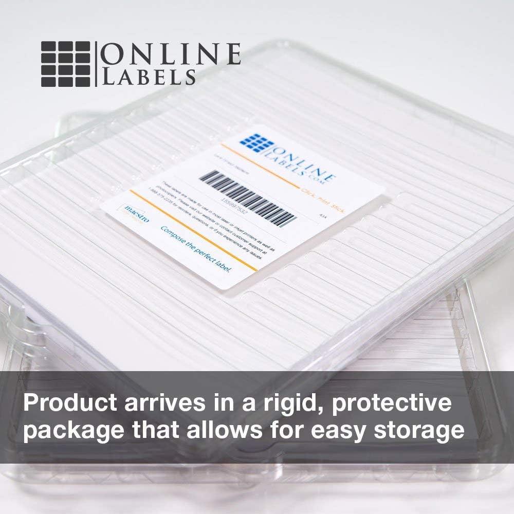 Amazon.com: Papel adhesivo para imprimir, blanco, mate para ...