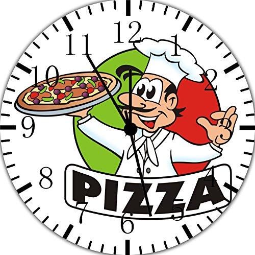 - Pizza Chef Frameless Borderless Wall Clock E166 Nice for Gift or Room Wall Decor