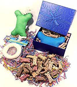 Amazon.com : Dog Easter Gift Basket Box of Biscuits with