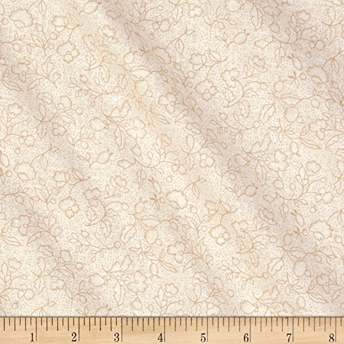 - Santee Print Works Classic Tone Floral Tan Fabric by The Yard
