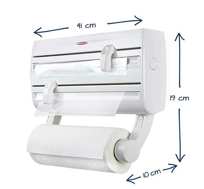 Leifheit Wall-Mounted Roll Holder Parat F2, White Kitchen Roll Dispensers at amazon