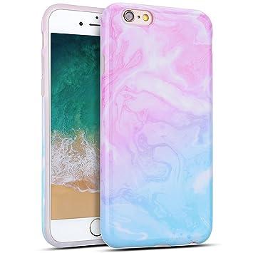 MoEvn Funda iPhone 6S / 6, Mármol Suave TPU Silicona Carcasa iPhone 6S Flexible Goma Gel Protectora Caso iPhone 6 Ultra Fina Protector Bumper Tapa ...