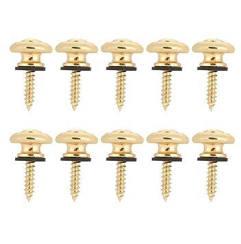 2 stücke gitarrengurt lock-taste end pins für elektrische akustische