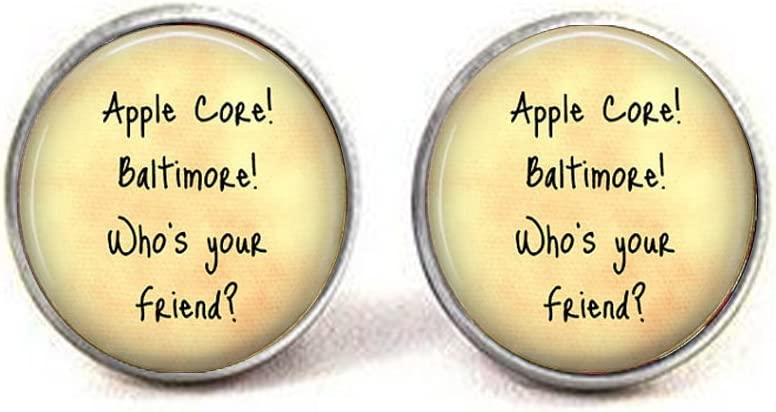 Friend Jewelry - Apple Core! Baltimore - Gift for Friend - Friend Earrings - Friendship Earrings - Funny Friend Gift