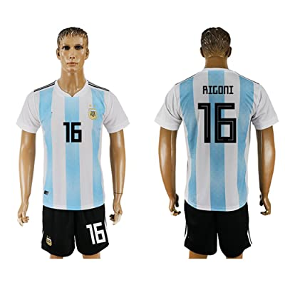 2018 World Cup Argentina National Team #16 Soccer Jersey