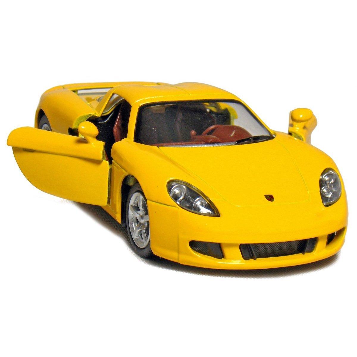 Black//Blue//Red//Yellow by Kinsmart KT5081D-P4 Set of 4 5 Porsche Carrera GT 1:36 Scale