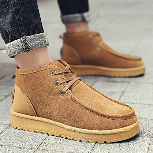 Men's Shoes Feifei Keep Warm Fashion Casual Thickening Snow Boots 3 Colors (Size Multiple Choice) (Color : Yellow, Size : EU39/UK6/CN39)