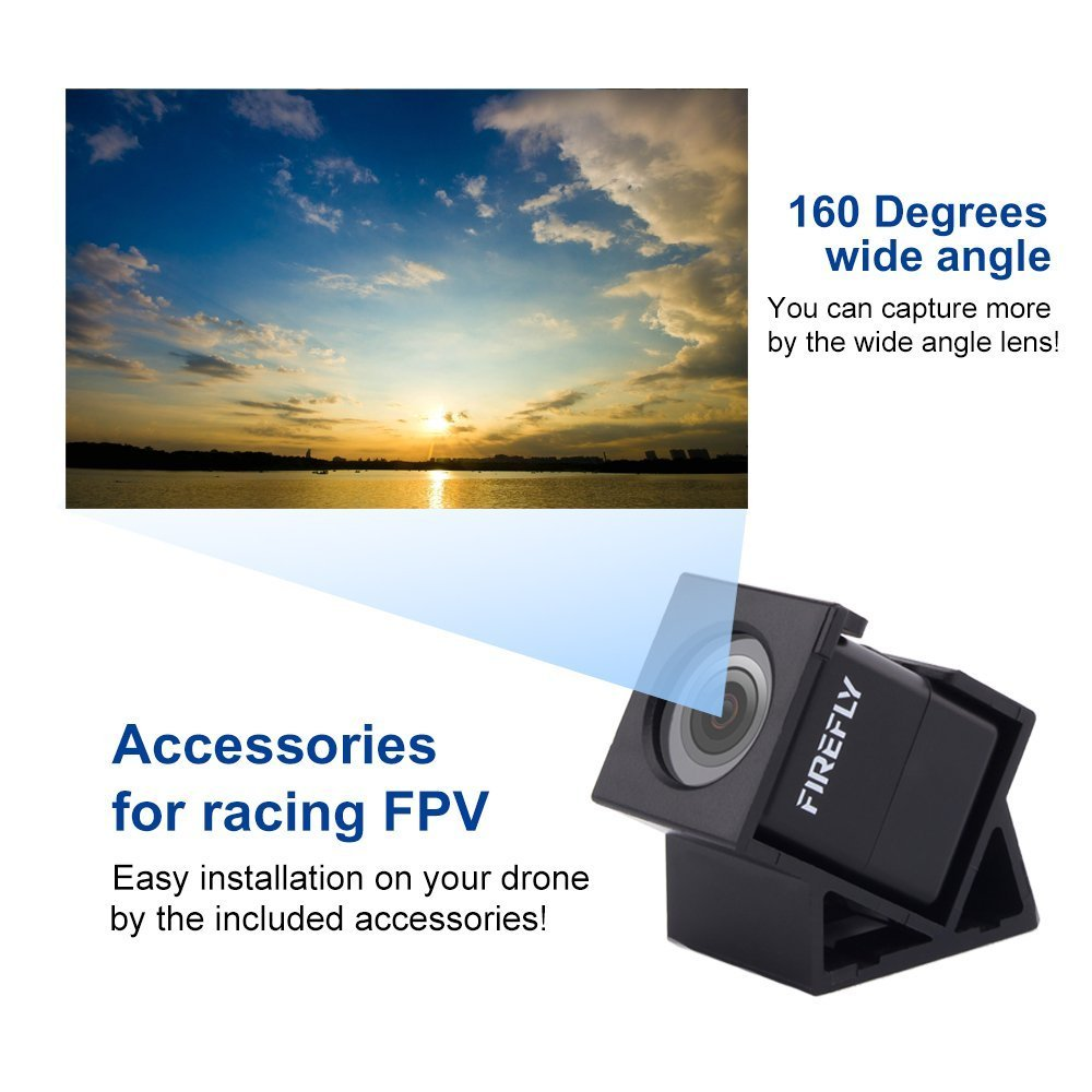 Mini FPV Camera Hawkeye Firefly Spy Camera 160 Degree HD 1080P FPV Micro Action Camera DVR Built-in Mic for RC Drone by Firefly (Image #3)