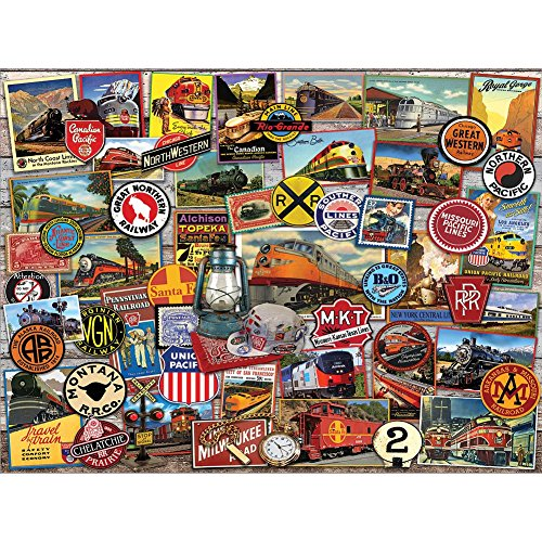 - Johnson Smith Co. - WHITE MOUNTAIN PUZZLES White Mountain All Aboard 1000 Piece Railroad Jigsaw Puzzle - 30