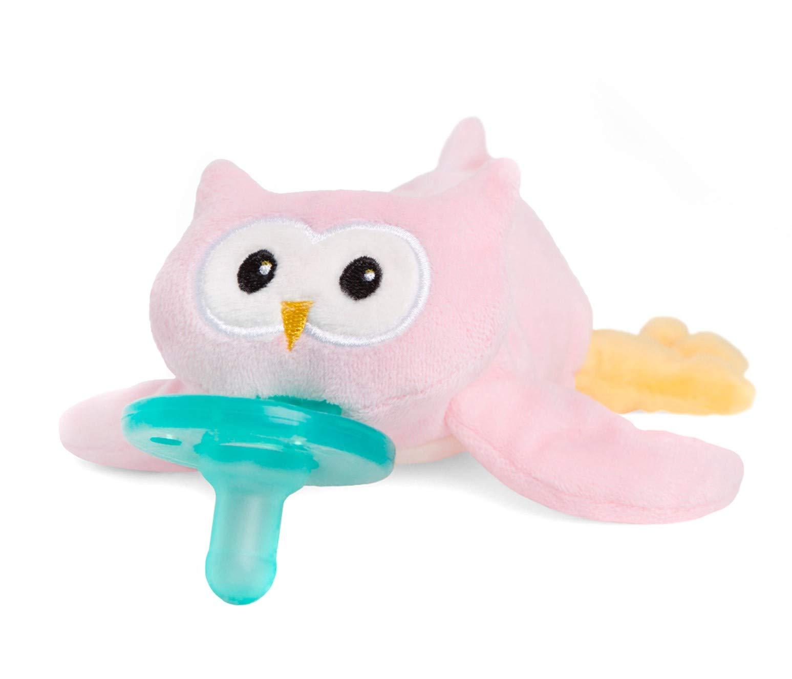 WubbaNub Infant Pacifier - Pink Owl by WubbaNub