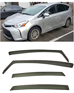 for 2011-Present Toyota Prius V | EOS Visors in-Channel Style Smoke Tinted
