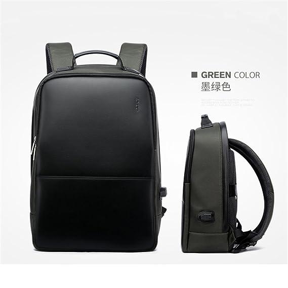 Amazon.com: Men Leather Backpack Women Travel Bag Waterproof Laptop Backpacks School Bag Male Notebook School Bag Black: Clothing