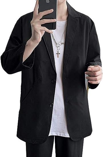 Alhylaジャケット メンズ テーラードジャケット 7分袖 サマージャケット スリム ビジネス スーツ カジュアル フォーマル アウター 大きいサイズ 夏