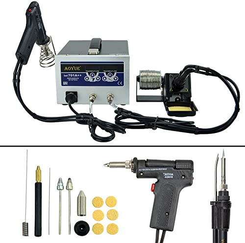 Aoyue 701A Dual Function Digital Soldering and Desoldering Station with a Smoke Absorber – 220 Volts