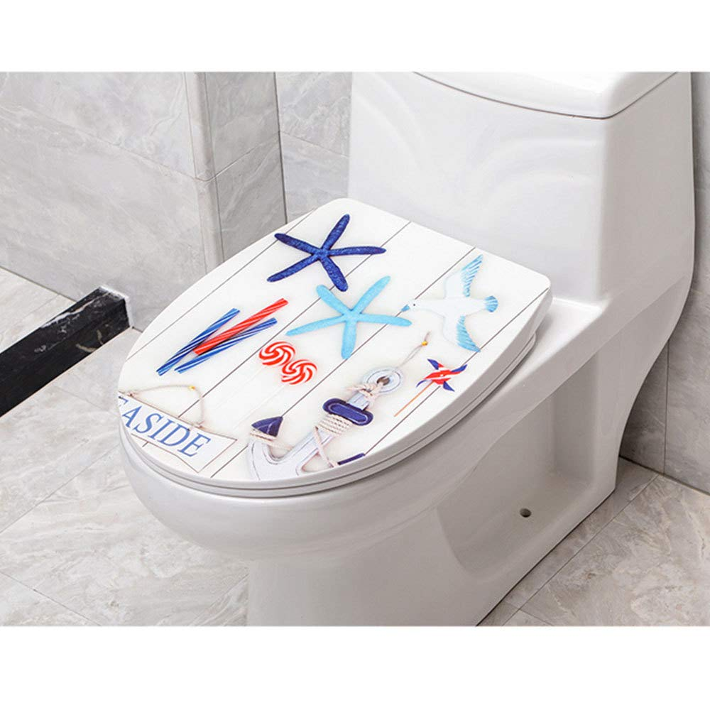 D 44 Toilet Lid V U O Shape Compatible Toilet Seat With Soft Close Adjustable Hinge Quick Release Top Mounted Toilet Lid,B-44-48  38.5cm