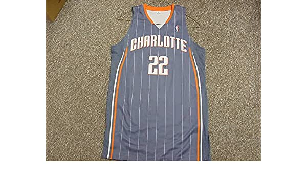 82cc8cd04 Adidas Sample Jersey Charlotte Bobcats 2010-2011 Blue Game Jersey at  Amazon's Sports Collectibles Store