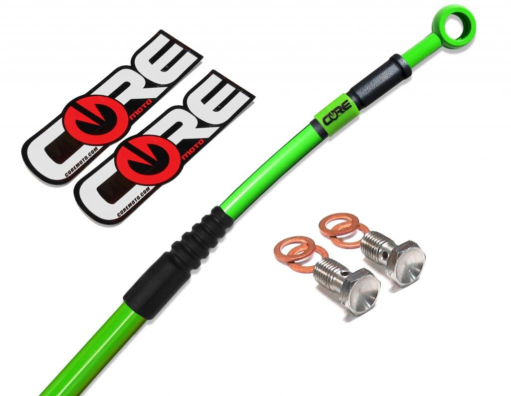 // KX85 Core Moto CF0028 MX Front Brake Line Kit for: KX80 98-13 01-13 // KX100 98-00