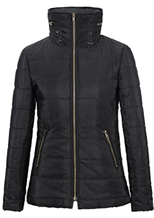 5ecc08fdef6 Fensajomon Womens Winter Thicken Stand Collar Quilted Jacket Coat Outwear  Black XXS