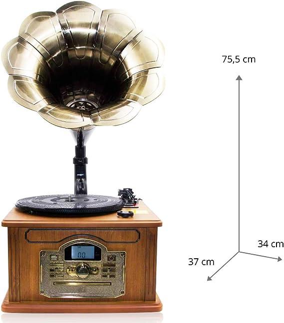 Lauson - Gramófono Clásico Cl147 con Función Encoding, CD, USB ...