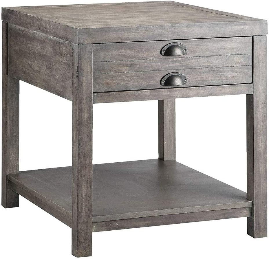 Stein World 611-021 Bridgeport Rectanglular End Table in Grey