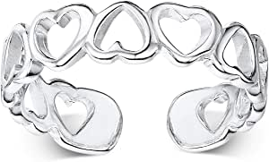 Amberta 925 Sterling Silver - Toe and Midi Ring for Women - Adjustable Fit -