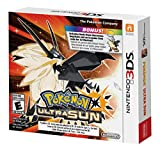 Limited Edition Pokemon Ultra Sun 3DS Game with Exclusive Dusk Mane Necrozma Keychain and Bonus In-game Code - Nintendo 3DS