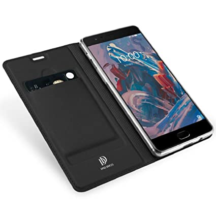 lowest price 158e8 c4387 OnePlus 3 Case/ OnePlus 3T Case,Ikevan New Premium Luxury Ultra Slim Flip  Leather Card Holder Wallet Case Cover Shell for Oneplus 3 2016 (Black)