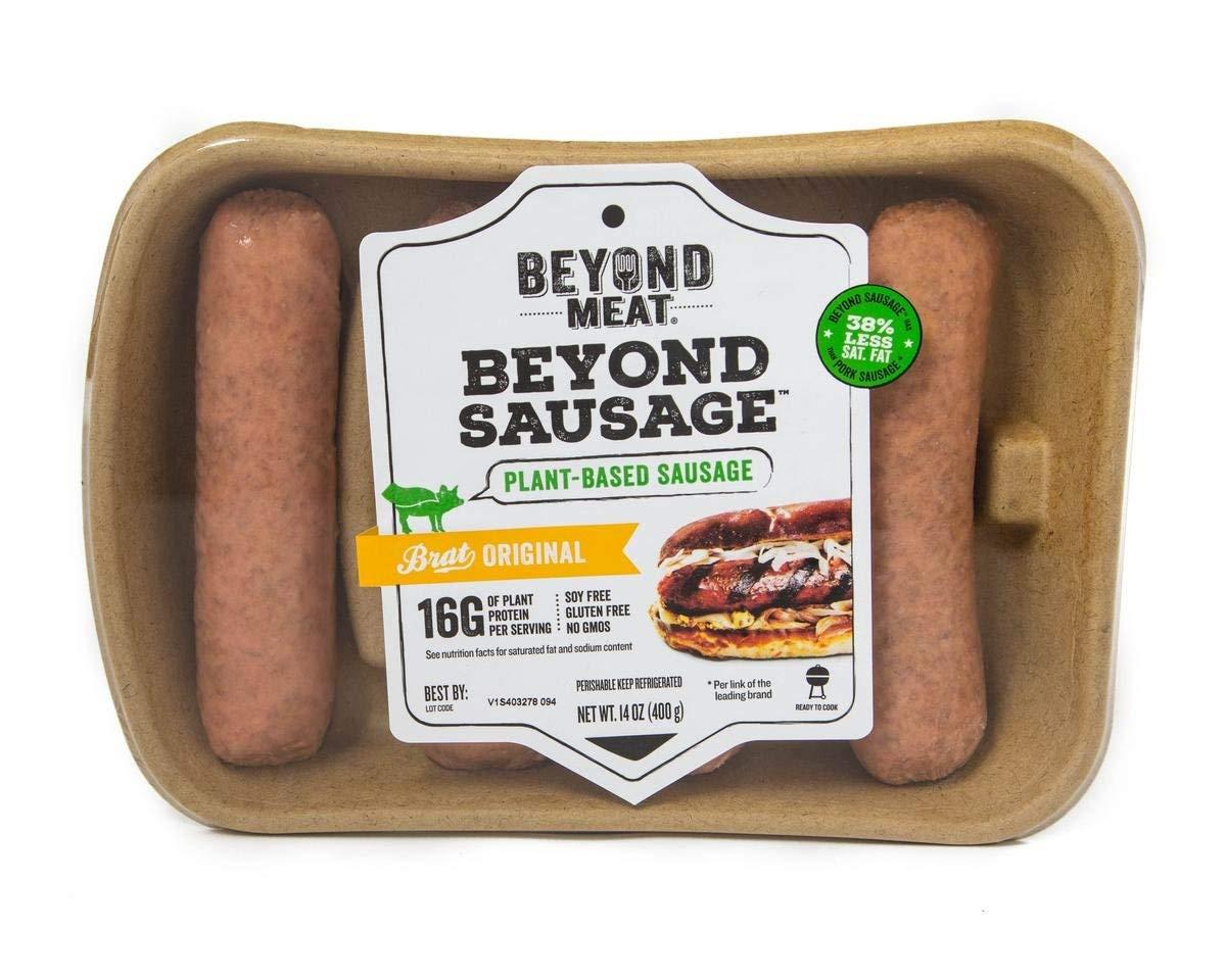 Beyond Meat Brat Original Plant-based Sausage, 14 oz (8 Pack, 32 Links Total)