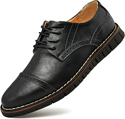 Moodeng Chaussure Homme Cuir Mocassins Loafers Oxford Homme Chaussure Derby Lacets Dressing Casual Business Respirant