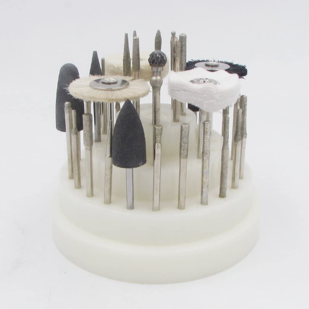 40-Piece Clean /& Polish Rotary Tool Accessory Kit with White Case