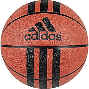 adidas Performance 3-Stripes Basketball, Natural/Black, Size 7