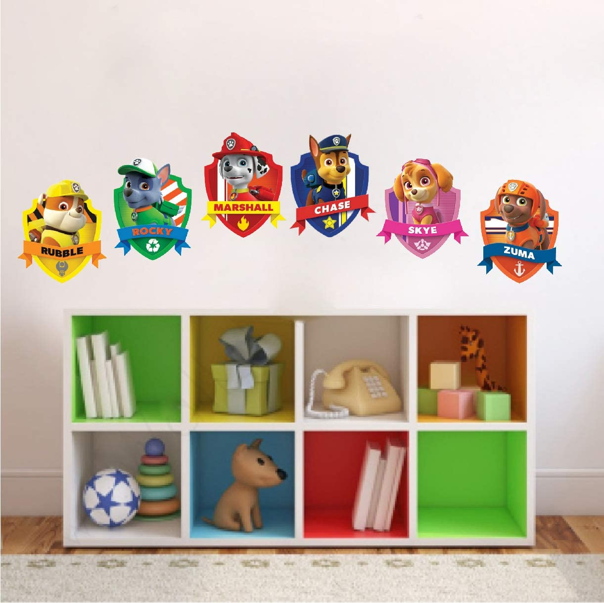 Wall Decals Kids Cartoon Art - Paw Patrol Kids for Bedroom Apartment Wall Decor Toys Kids Nursery Removable Decoration TV Show Wall Mural, s20